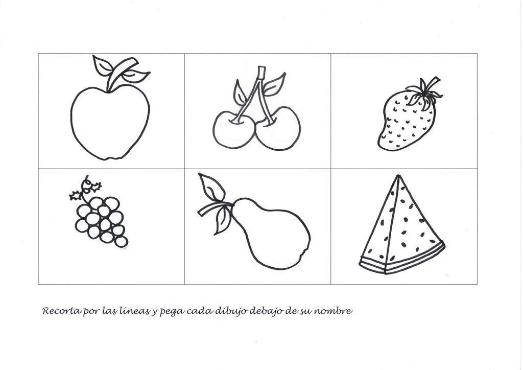 Fichas de asociación: Fruta