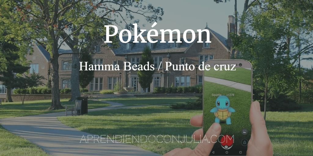 Plantilla Hamma Beads o punto de cruz Pokémon