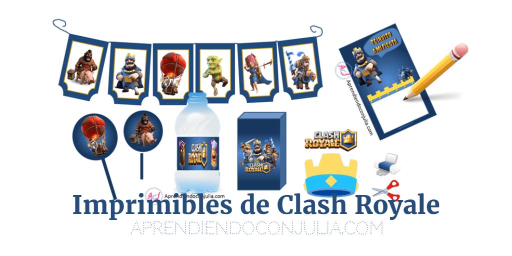 Clash Royale: Imprimibles para fiestas (invitación, corona ...