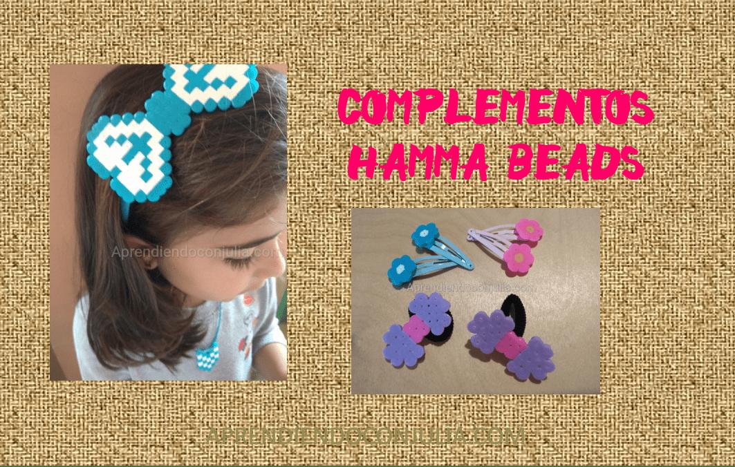 Complementos con hamma beads: Diademas, horquillas, pulseras, collares…
