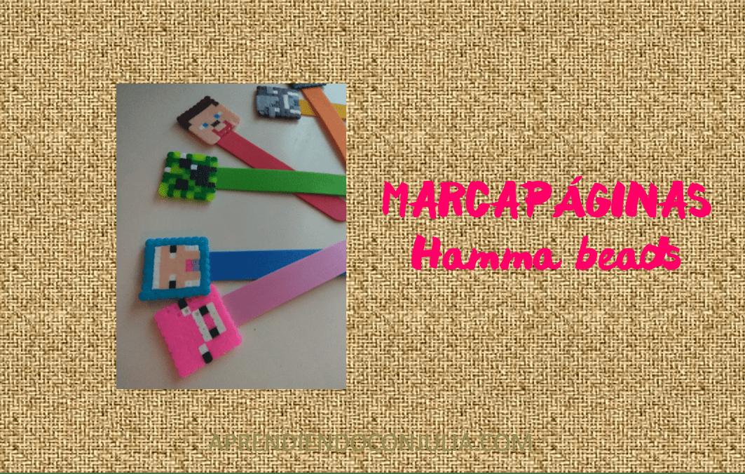 Marcapáginas con hamma beads. Manualidad fácil.