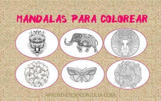 Mandalas para colorear de animales para imprimir