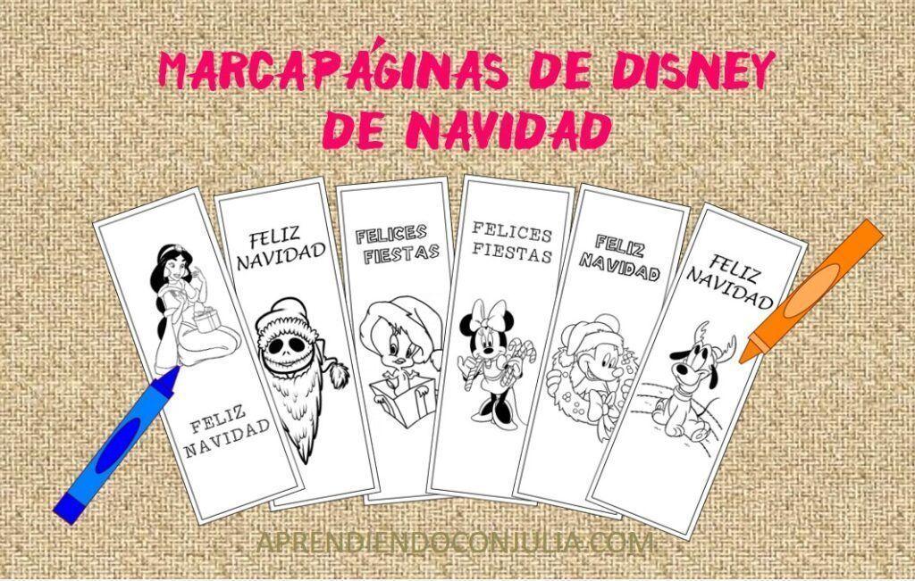 12 Marcapáginas de Navidad de Disney para imprimir