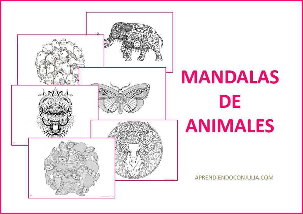 MANDALAS PARA COLOREAR DE ANIMALES GRATIS