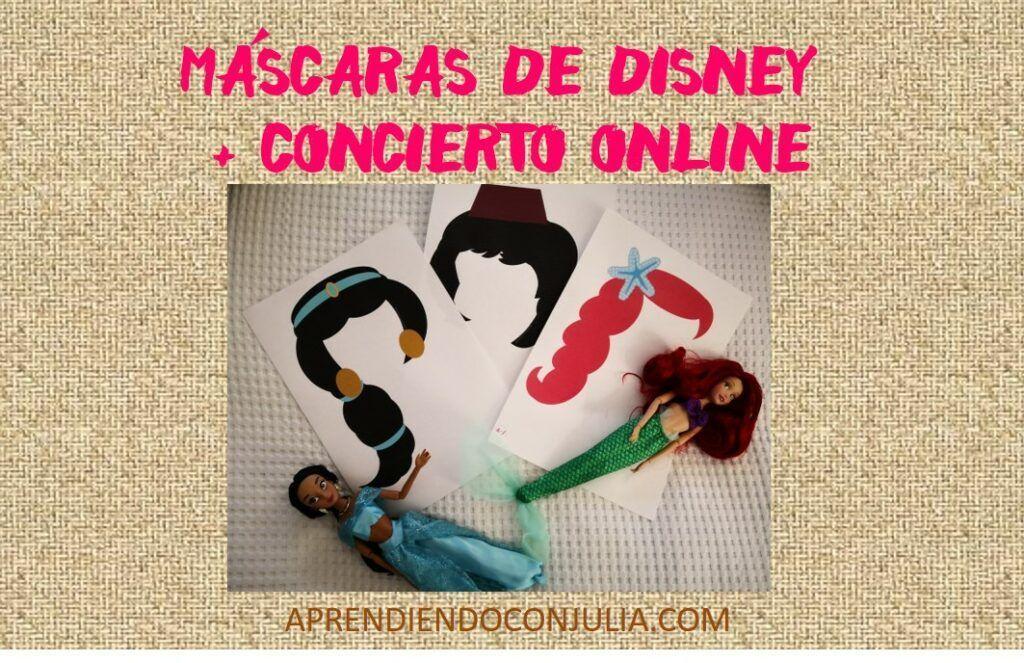 Caretas de personajes Disney clásicos + concierto en Instagram