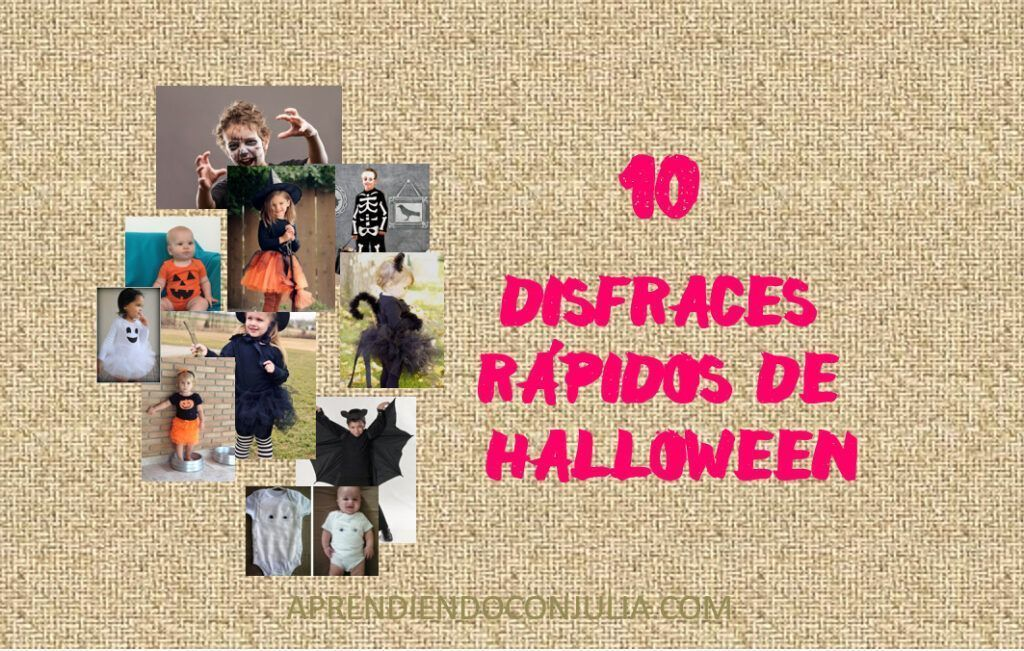 10 disfraces infantiles fáciles de Halloween