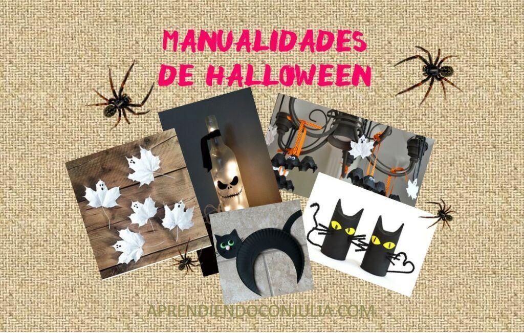 Manualidades infantiles de Halloween recicladas