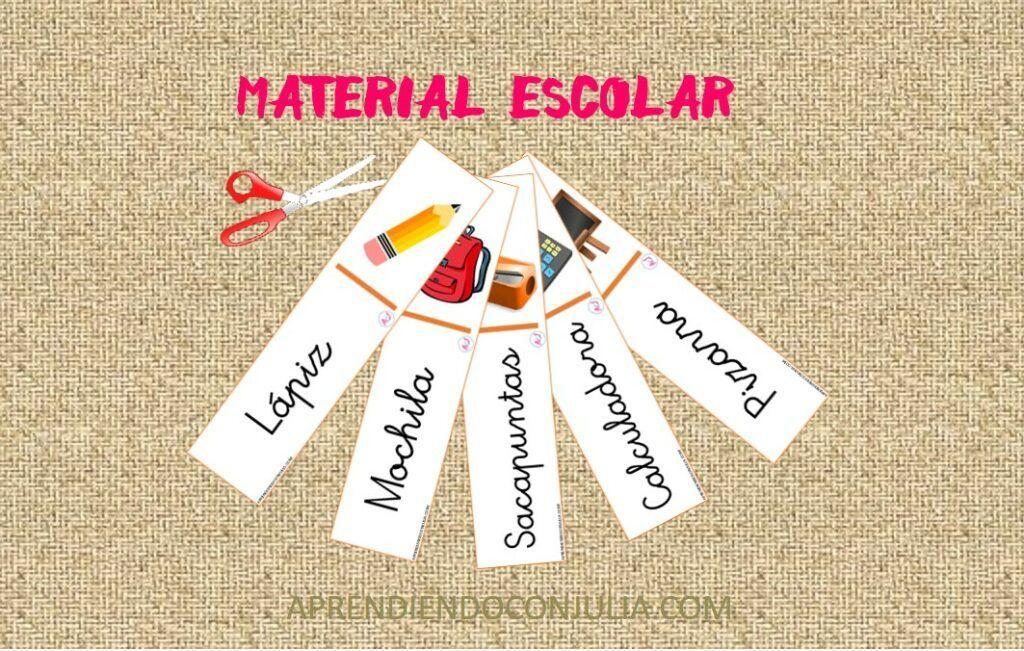 VOCABULARIO DE MATERIAL ESCOLAR EN ESPAÑOL