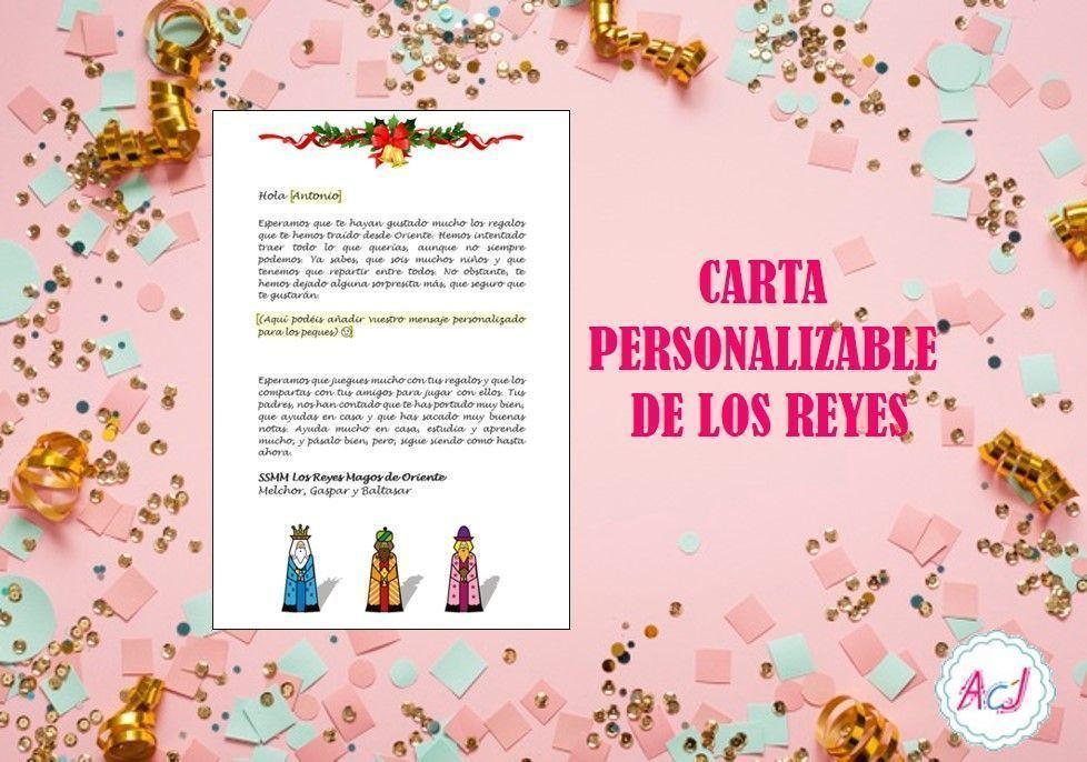Carta de los Reyes personalizable (Singular)